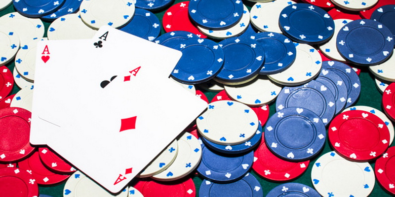 Ace cards on the table