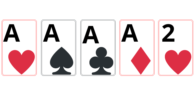 Four of a kind - poker cards deck