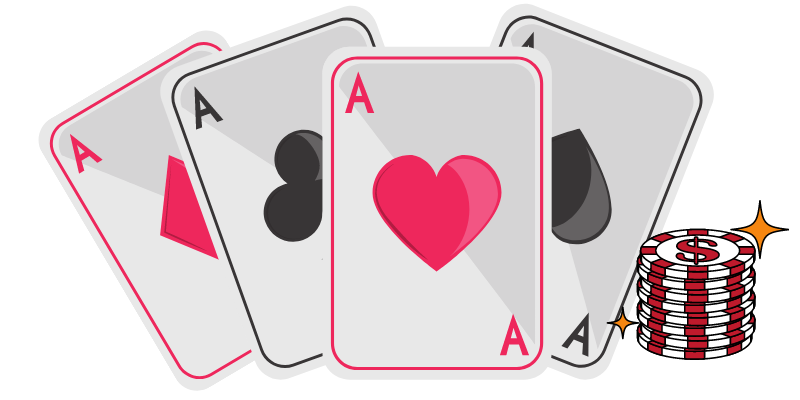 4 aces - ace value in poker