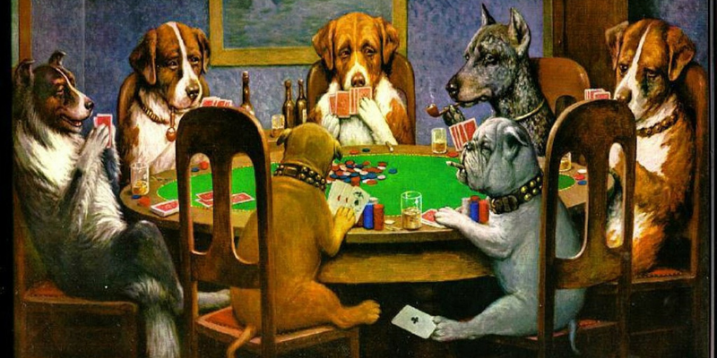 Dogs play the game - poker tips advanced