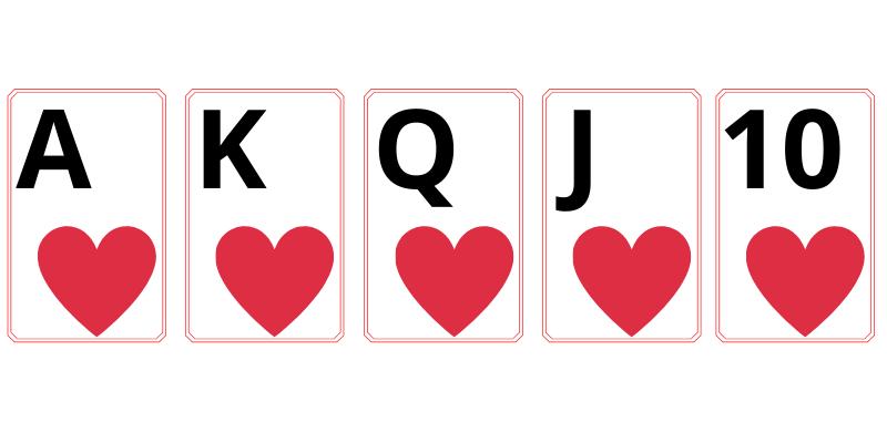 Royal flush - poker cards values