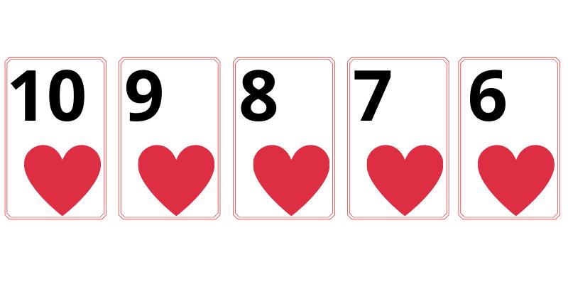 Straight flush - poker cards