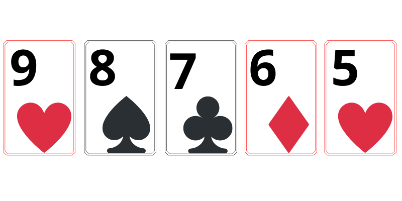 Straight - poker card combinations