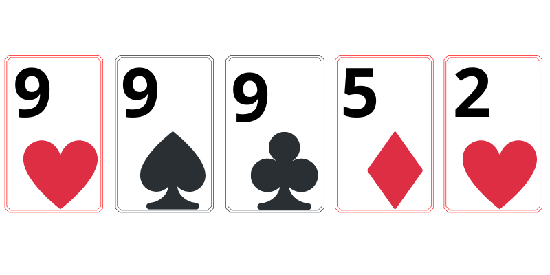 Three of a kind - poker combination