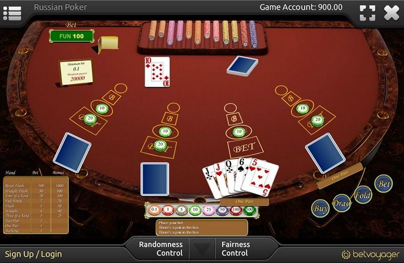 Russian poker table